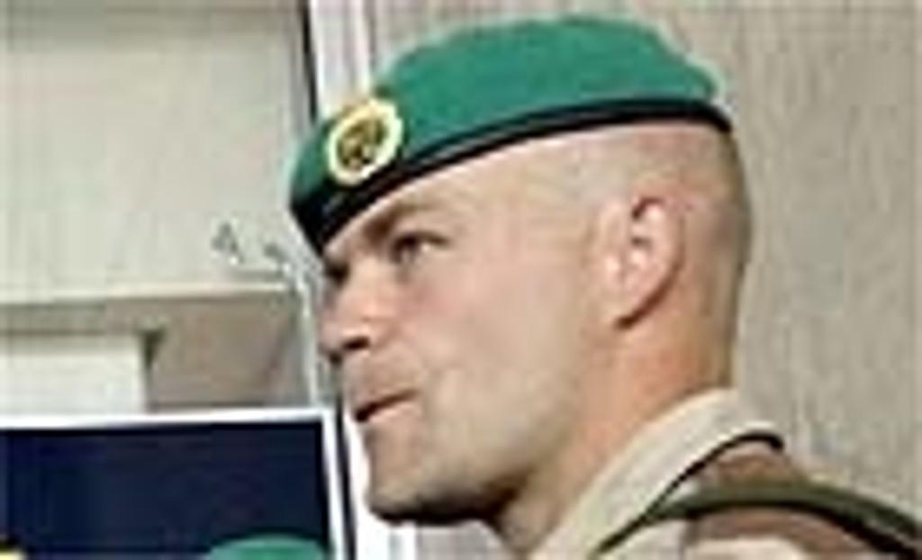Norske soldater fra Telemarksbataljonen like før avreise til Irak.