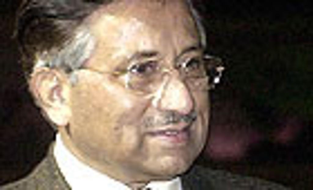 Pakistans president Pervez Musharraf