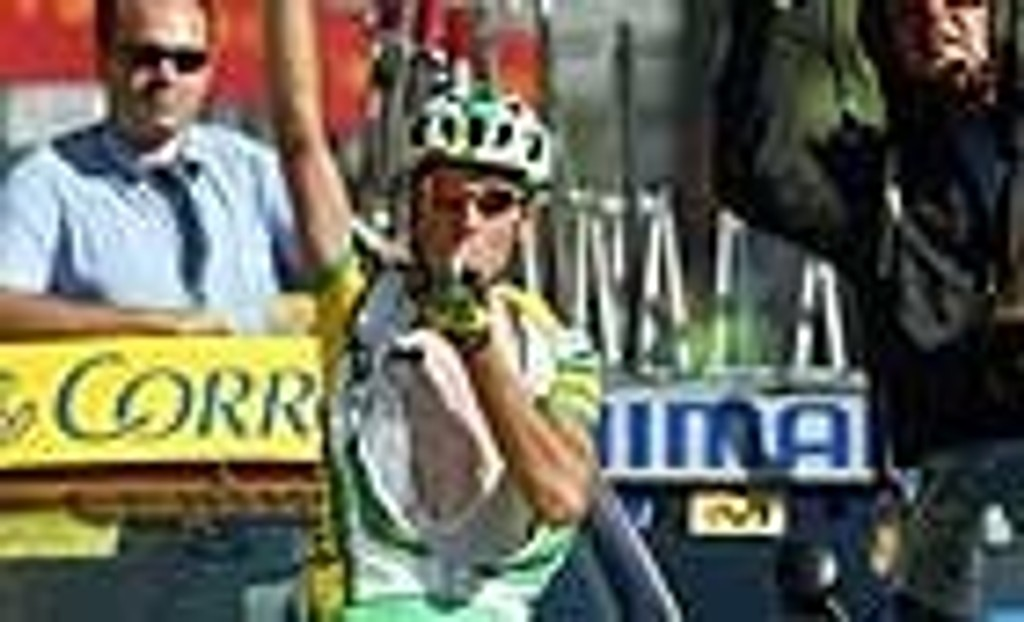 Santiago Perez vinner etappe under Spania Rundt i 2004.
