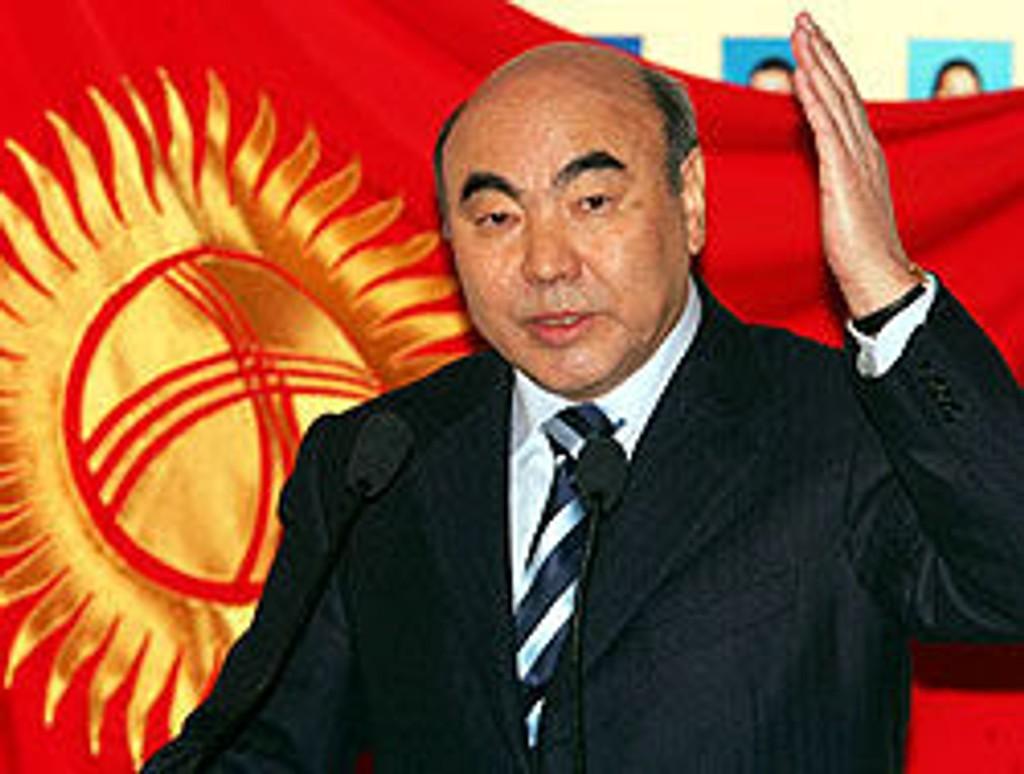 Tidligere president Askar Akajev ble styrtet i mars.