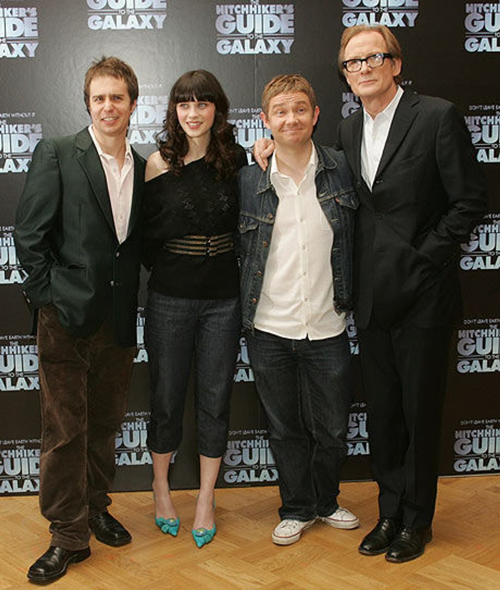 Sam Rockwell, Zooey Deschanel, Martin Freeman og Bill Nighy.