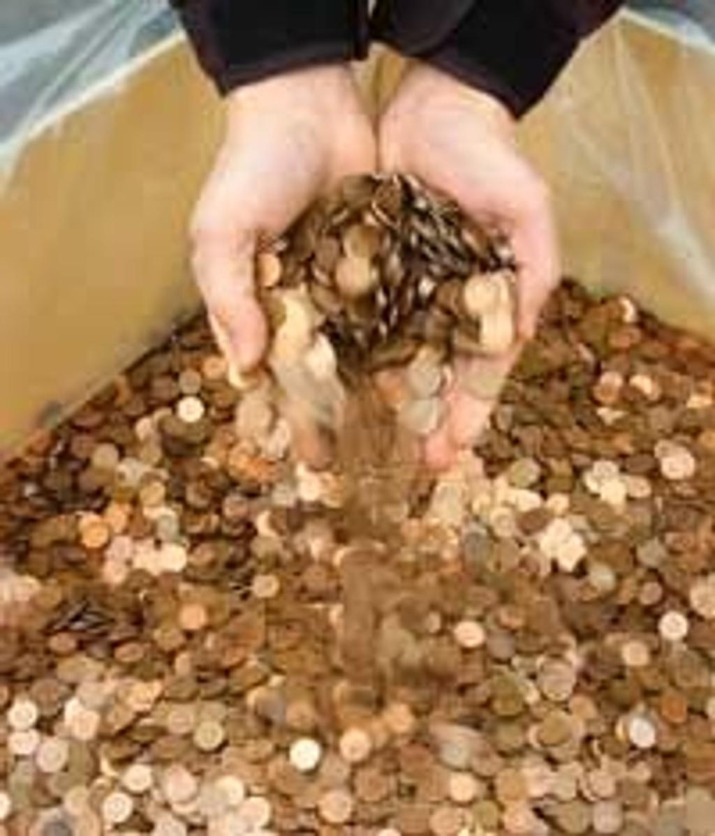 Gamle tyske pfenning-mynter erstattes og smeltes om til euro