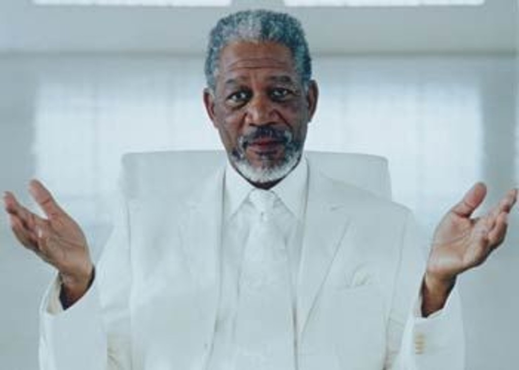 Morgan Freeman som Gud i filmen «Bruce Almighty».