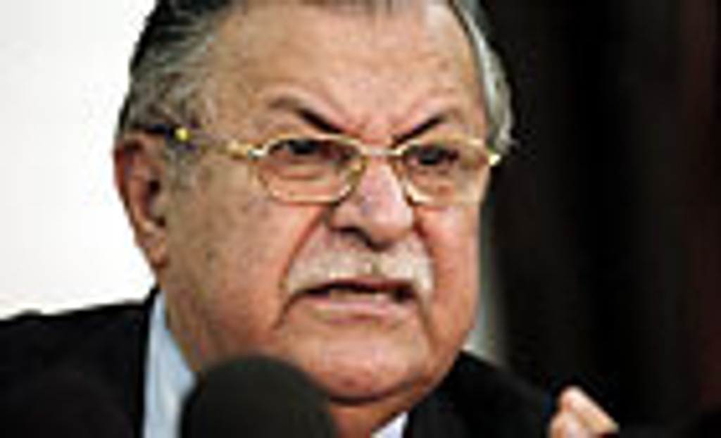 Iraks president Jalal Talabani.
