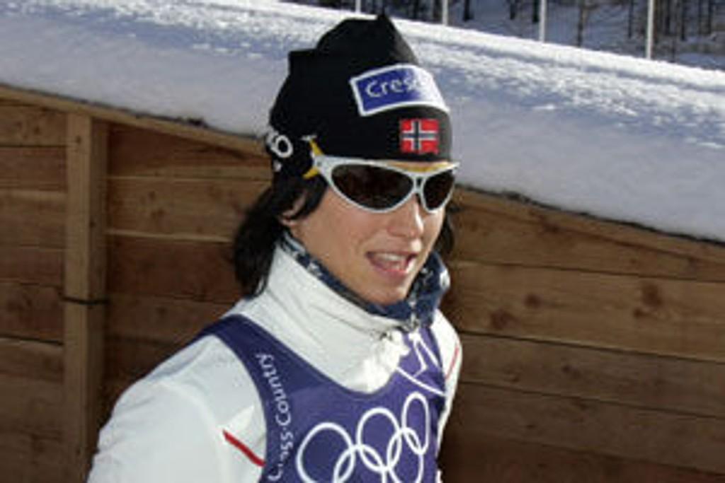 Marit Bjørgen og de noske langrennsløperne trente onsdag i OL-løypene i Pragelato.