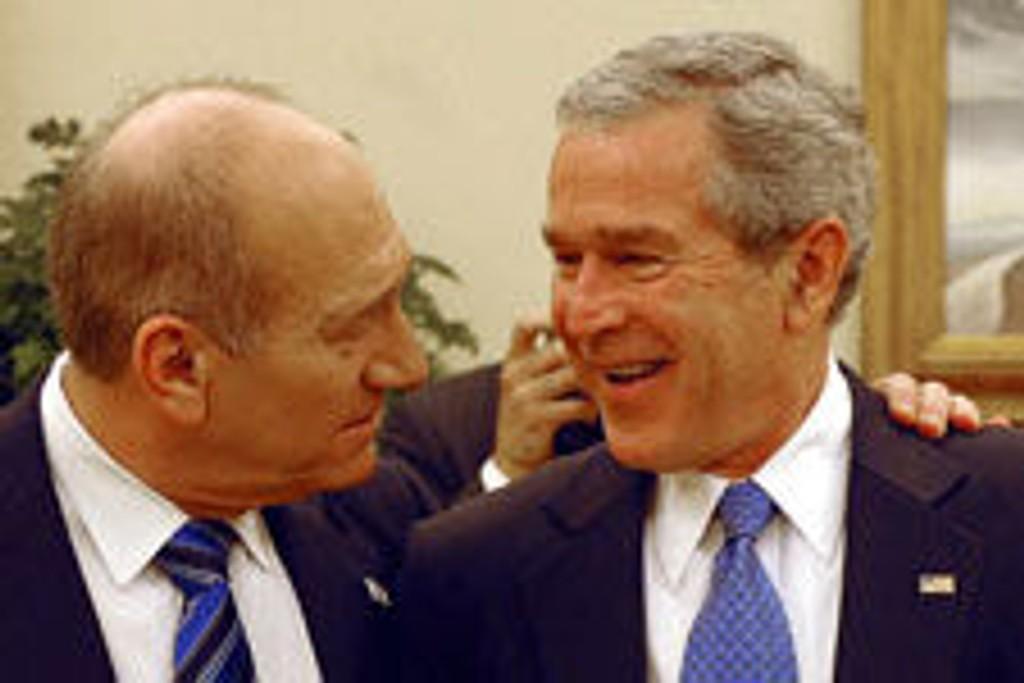 USAs president Geroge Bush og israelske statsministeren Ehud Olmert