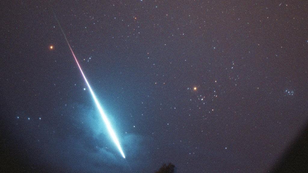 Denne ekstremt kraftige Leonide-meteoren er fra 1999.