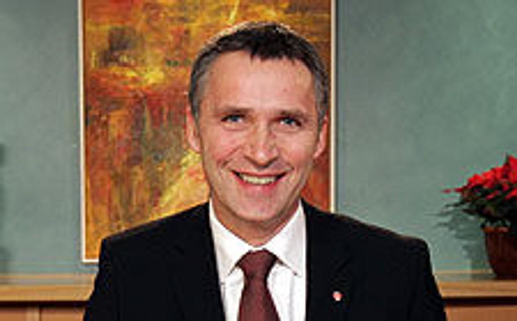 Statsminister Jens Stoltenberg under nyttårstalen.