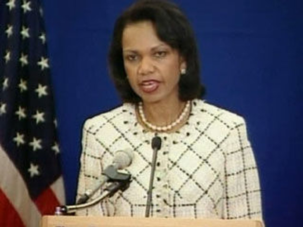 USAs utenriksminister Condoleezza Rice.