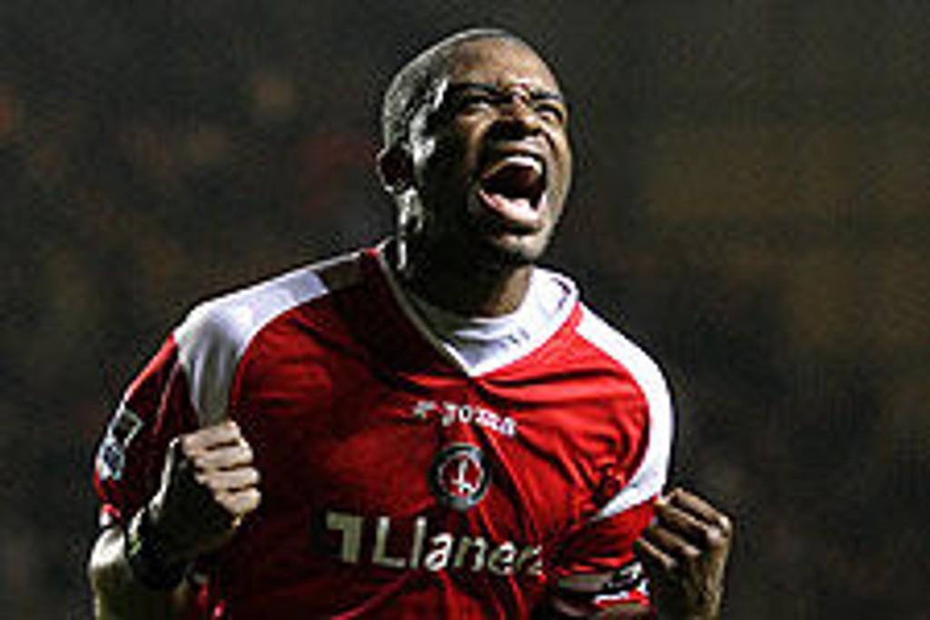 Darren Bent med ny scoring for Charlton.