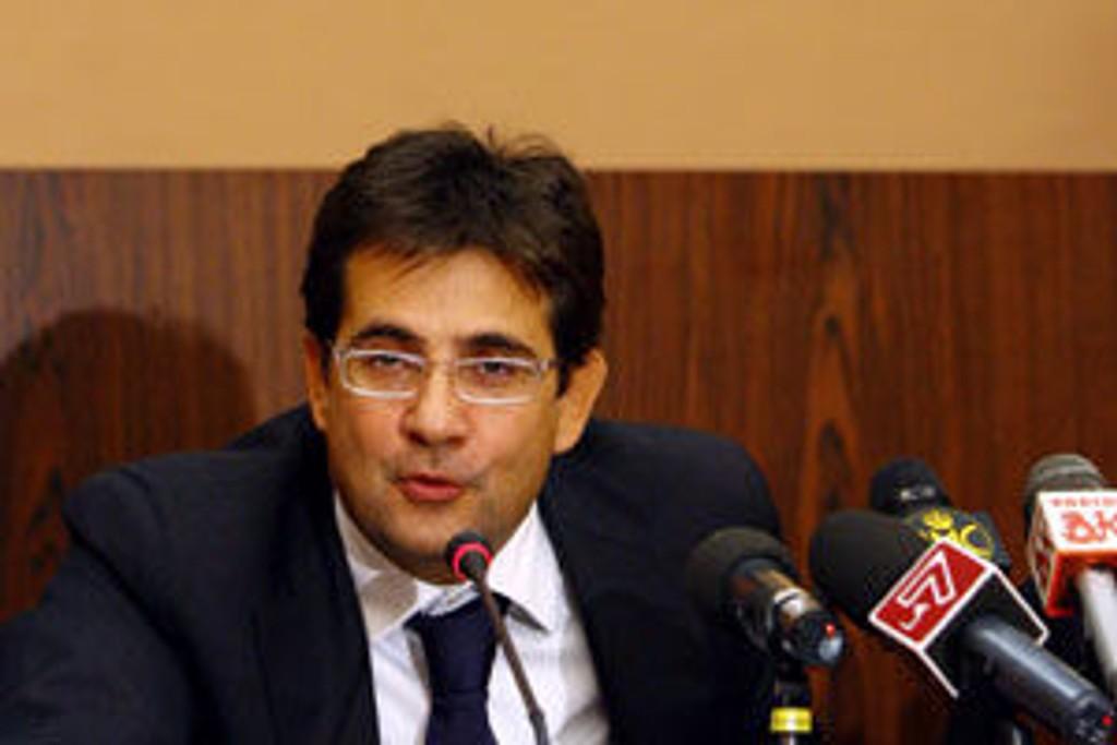 Luca Pancalli ble presentert som ny sjef i Det italienske fotballforbundet (FIGC) torsdag.