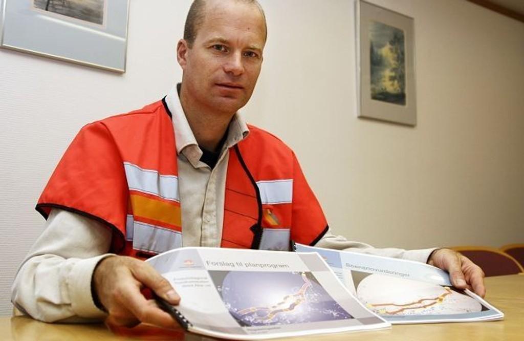 Ferdig med planen: Håkon Håversen i Statens vegvesen anbefaler nedgradering av Trondheimsveien, oppgradering av Østre Aker vei og bygging av Fossumdiagonalen.
