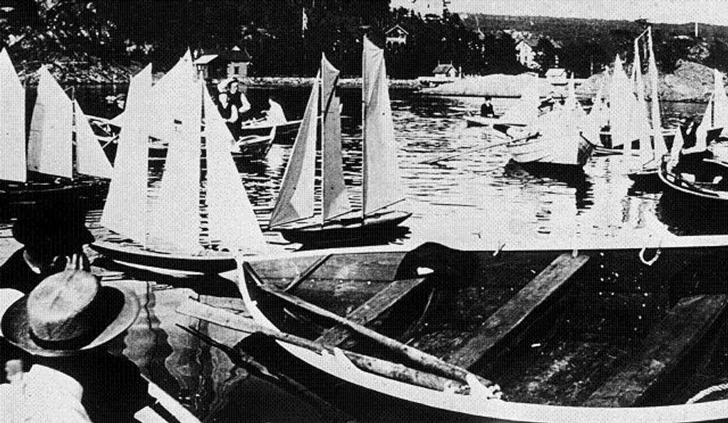 Regatta: Modell regatta på Rødskjær. Foto fra 1904 er utlånt fra Bekkelaget vel.