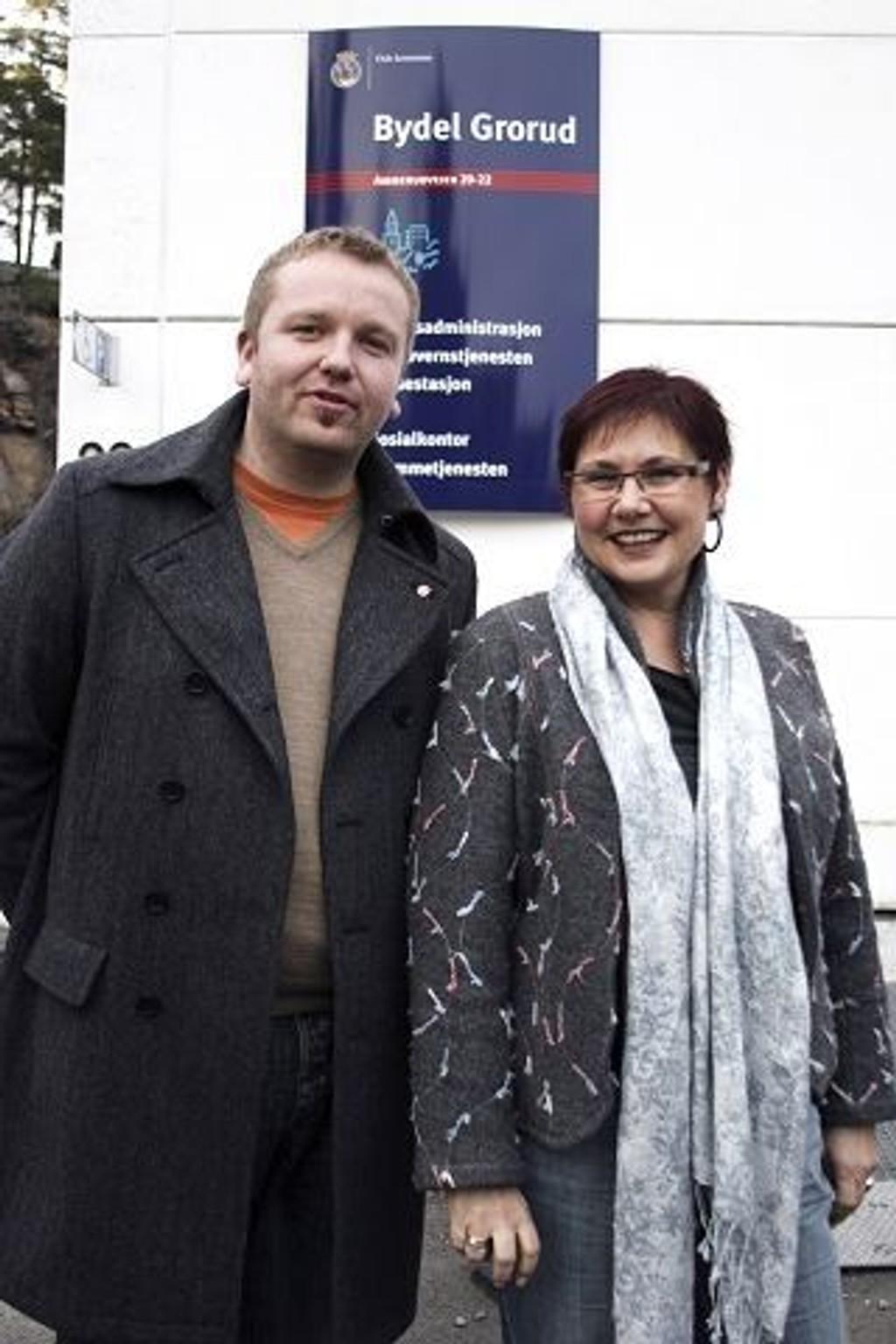 Fant tonen: Anders Røberg-Larsen (Ap) og Judith Kvernes (SV) gleder seg til å ta fatt som henholdsvis leder og nestleder av bydelsutvalget på Grorud.