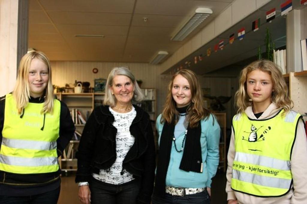 Flott arrangement: Vilde Westerskow, rektor Gro Høyvik, Ingrid Furulund og Eirin Østensen syntes alle fire at OD er ett flott tiltak.