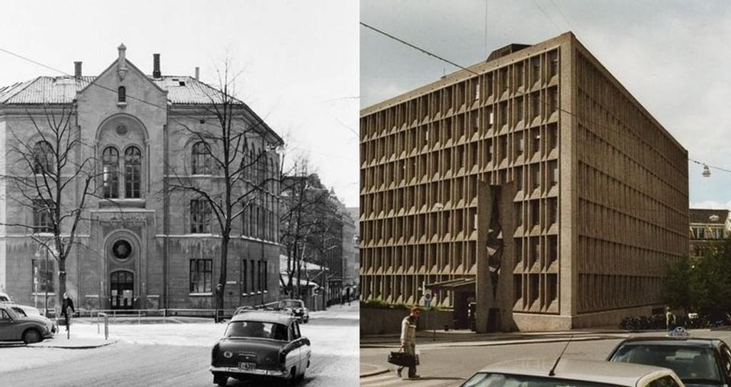 St. Olavs plass før og nå.