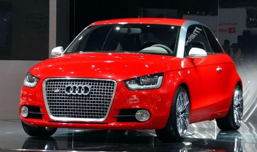 HYBRID-AUDI: Audi A1 som konsept, men den virkelige bilen havner trolig meget nær denne. Legg merke til bilens aggressive front. (Foto: Øivind Skar)