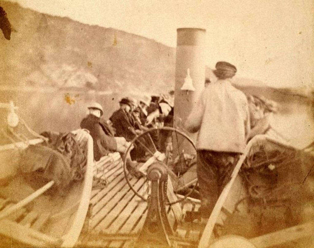 På vei til Kongshavn(?) År 1865. (Vi selger kun egne bilder.)