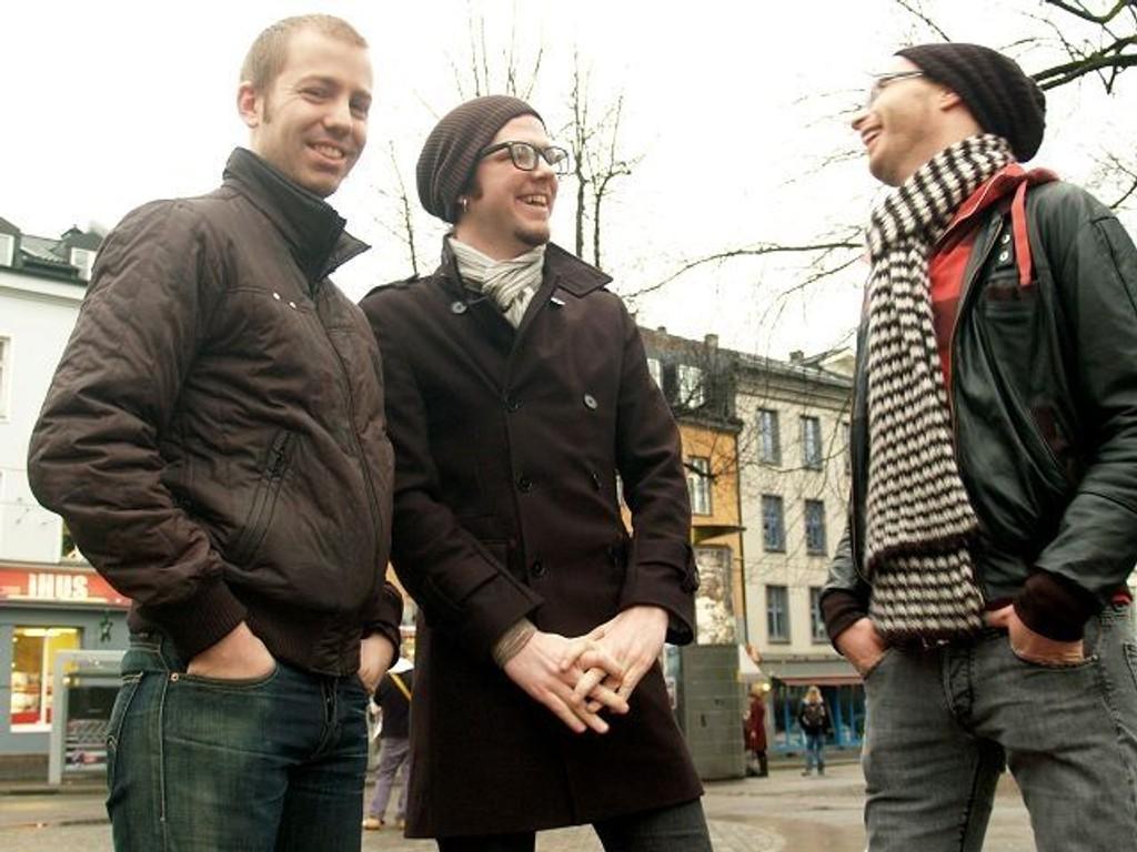 Bandet Jocelyn har plata klar, og er på jakt etter et selskap som vil gi den ut. F.v. Håkon Møller, Kristoffer Aksnes og Snorre Smørgrav.