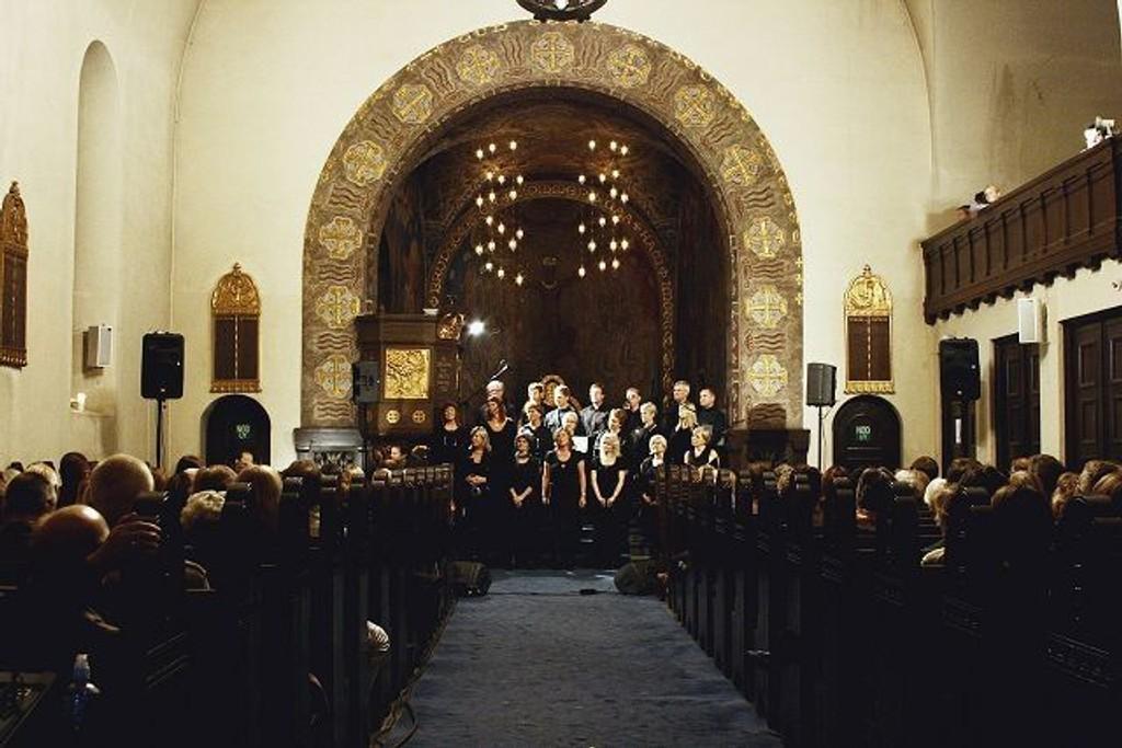Koret Cantando har konsert førstkommende mandag. Her fra en konsert tidligere i høst.