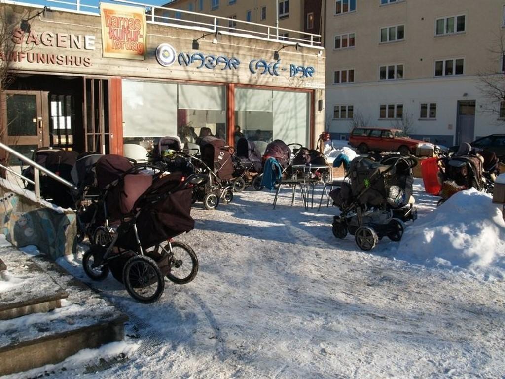 Nazar Café på Sagene samfunnshus ble ranet natt til torsdag.