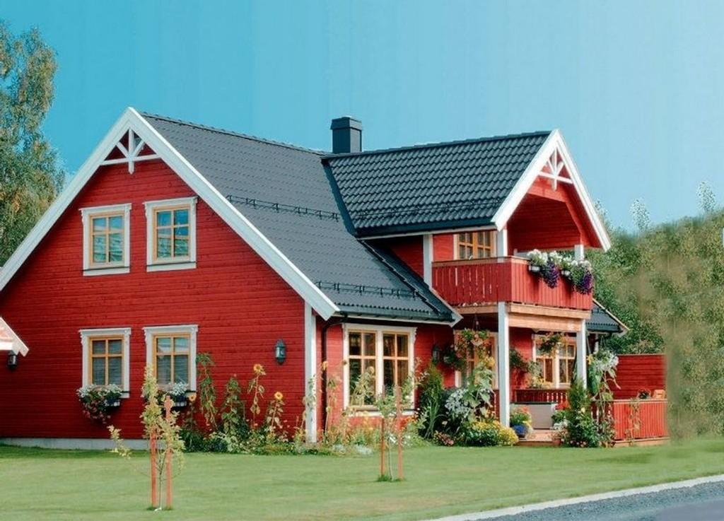 TREFFER FOLKESJELA: Aurora, bestselger hos Nordbohus, er akkurat så hyggelig og tradisjonsrikt som folk vil ha det.