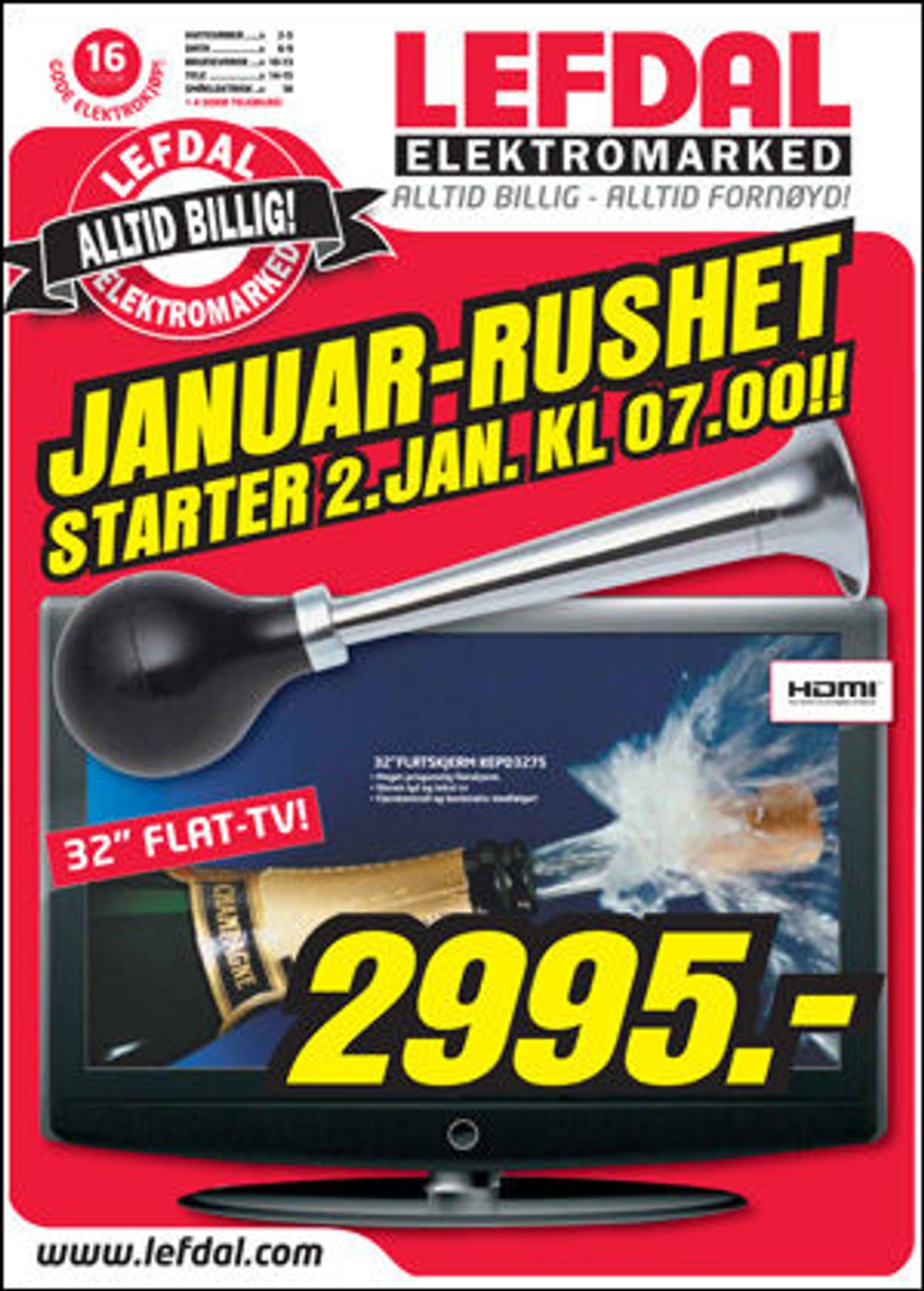 HVOR STÅR DET SALG? Lefdal har et januar-rush, men et salg er det nok ikke lov til å kalle det...