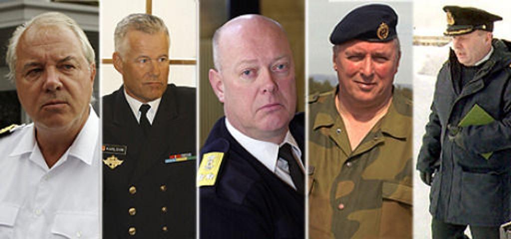 Fra venstre: Jan Reksten, Atle Torbjørn Karlsvik, Kjell Birger Olsen, Einar Skorgen og Kjell Arne Bratli.