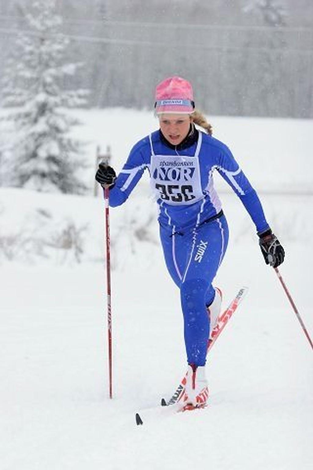 Caroline Fjellbu jobbet seg inn til en syvendeplass i Sørkedalen.