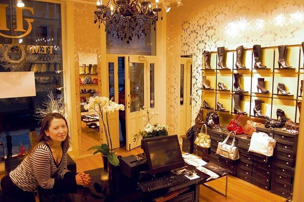 Aiguli Aliseva åpnet butikken i desember, i Skovveien 27 på Briskeby.