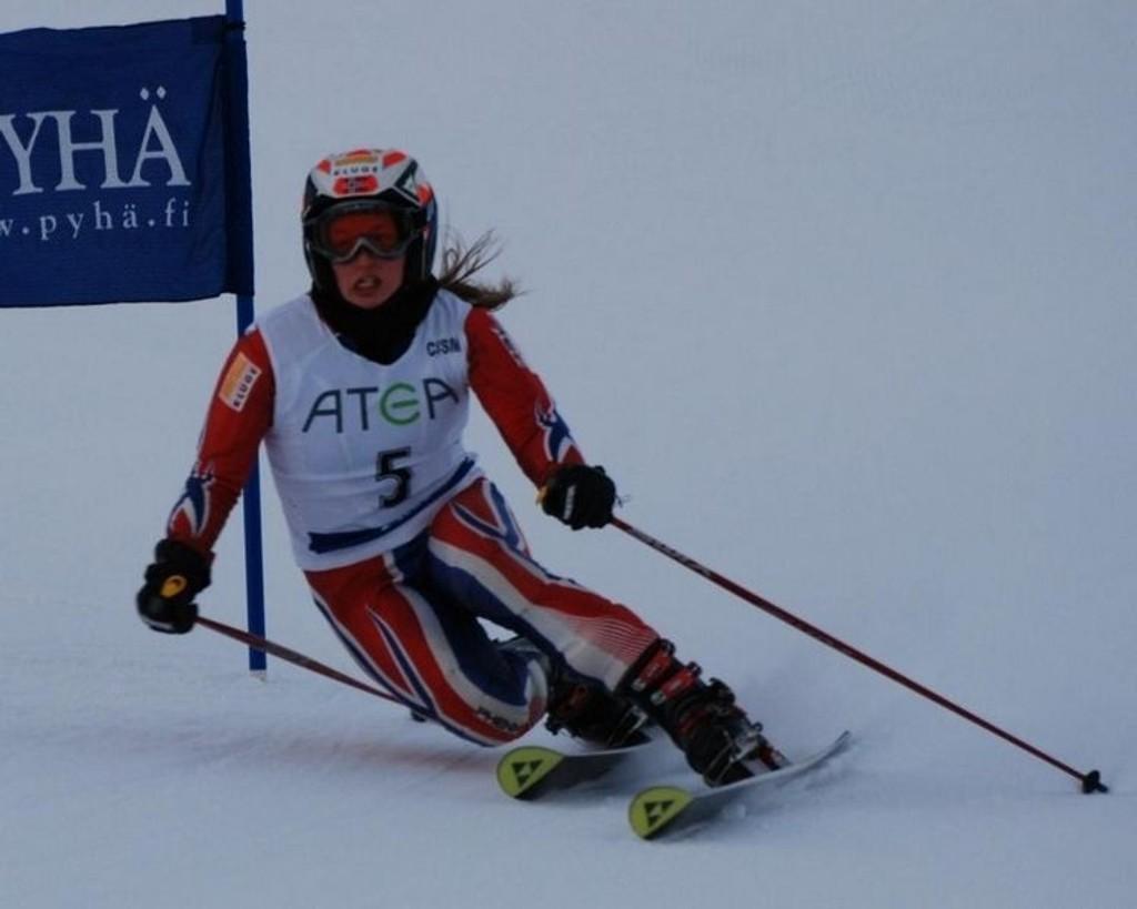 Katinka Knudsen kjørte inn til en tredjeplass i verdenscuprennet i Finland i går.