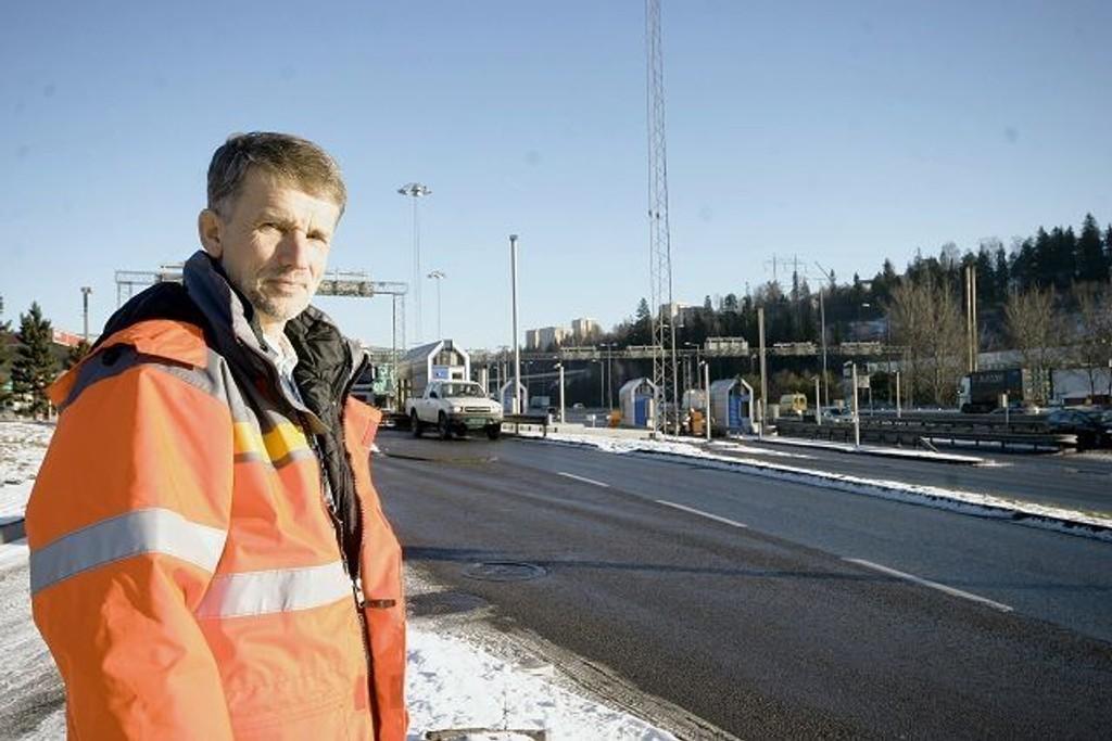 Prosjektleder Geir Kjønigsen i Statens vegvesen regner med at nølende bilister vil føre til at trafikken går noe tregere ved E6 Alnabru mandag morgen.