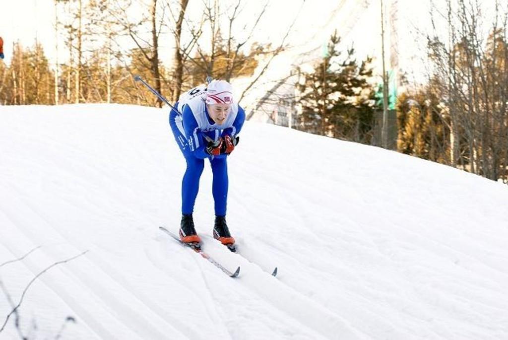 Hans Fredrik Fahle tok et klart KM-gull i lørdagens renn i fristil. Dermed forsvarte han også det ene av fjorårets to KM-gull.