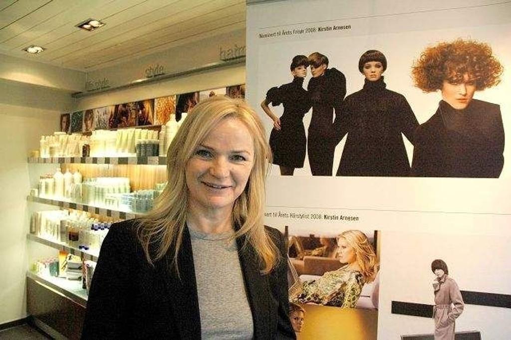 Innehaver og kreativ leder i Inch Kirstin Arnesen vil vinne prisen «Årets frisør».