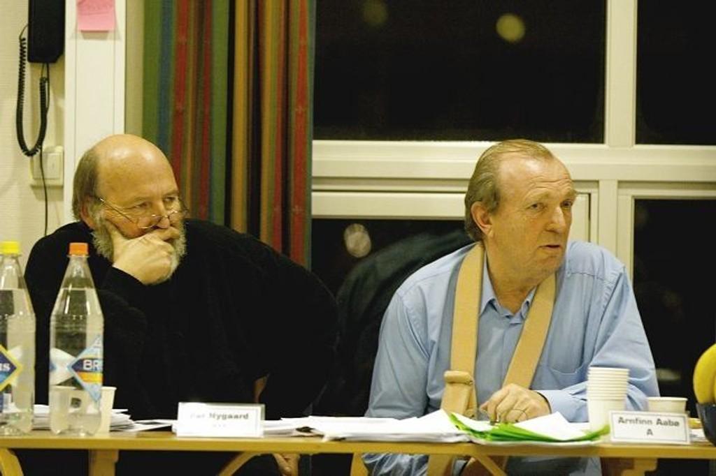 Nestleder Per Nygaard og BU-leder Arnfinn Aabø må ta viktige vurderinger på mandagens BU-møte. Arkivfoto: Øystein Dahl Johansen