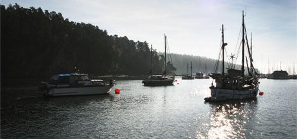 Sundet mellom Bygdøy og Killingen i Oslo.