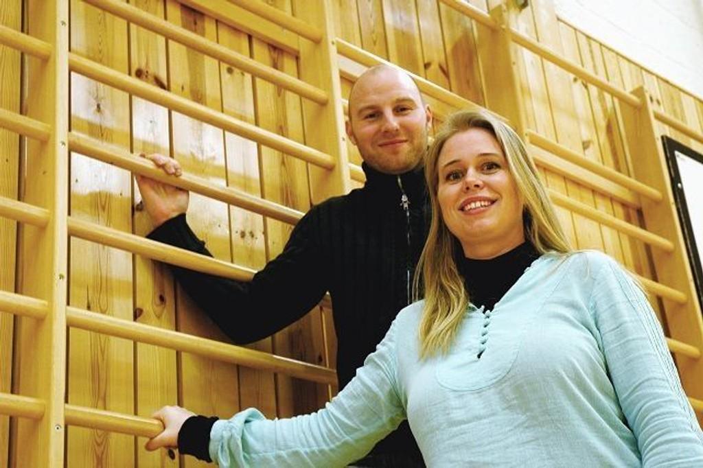 Torstein Grande og Tone Bergan Håkansson er ansvarlige for ekstragymtimene på barneskoler på Søndre Nordstrand.