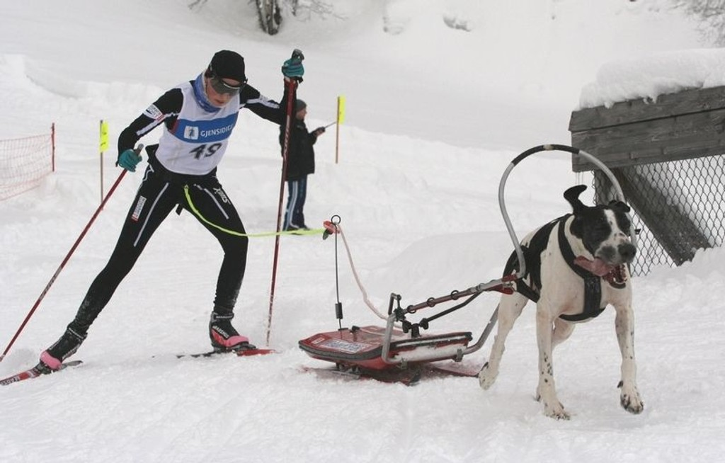 Karoline Conradi Øksnevad under ett av hennes sølv-løp i NM tidligere i år.