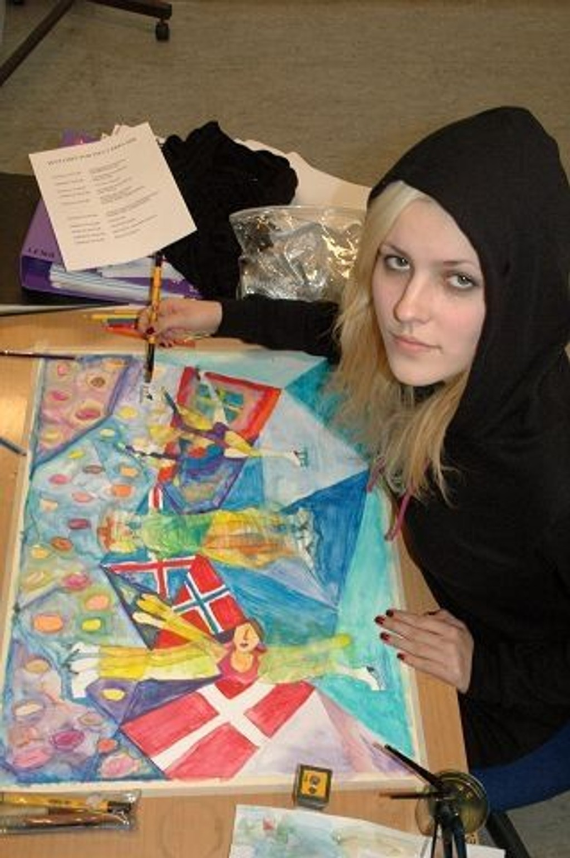 Lena Emanuelsen drømmer om å gå arkitekthøyskolen etter videregående.