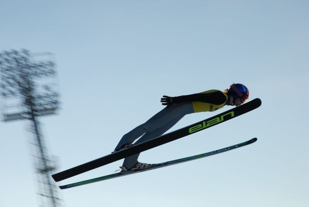 Per Sannes Heger satte ny bakkerekord i OL-bakken på Lillehammer med 142,5 meter for 2 uker siden.