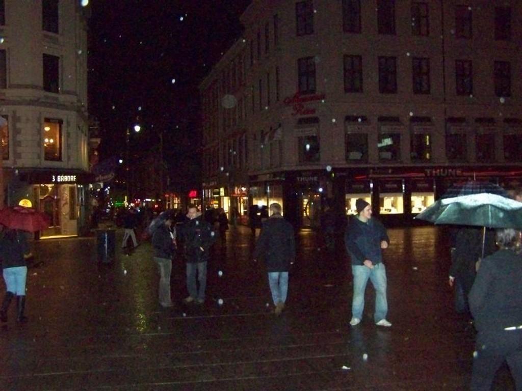Flere har valgt å dra ut i Oslo