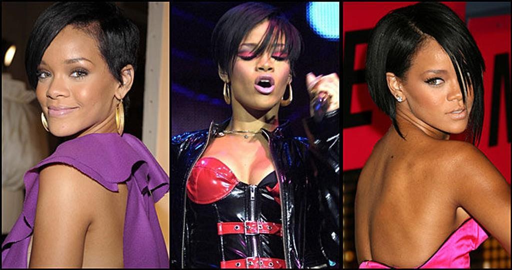 FARGERIK: Rihanna er ikke redd for synlig mote.