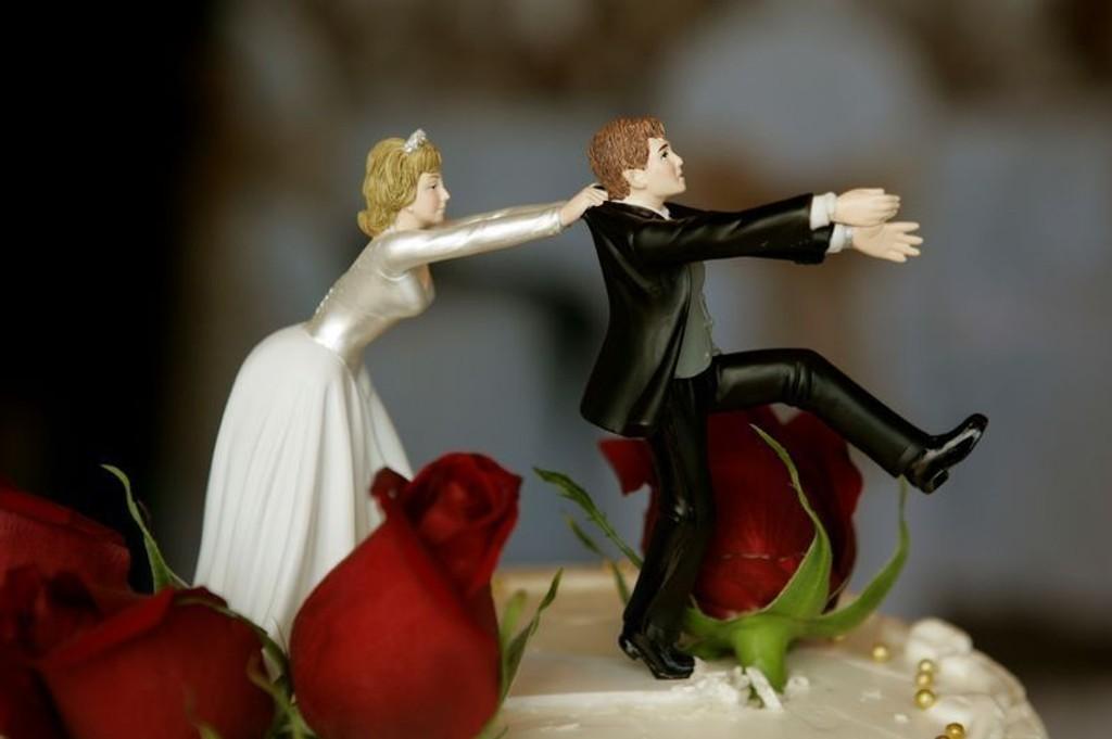 RUNAWAY BRIDE: Du kan trøste deg med at kalde føtter før bryllupet er vanlig, så lenge tankene ikke tar overhånd.