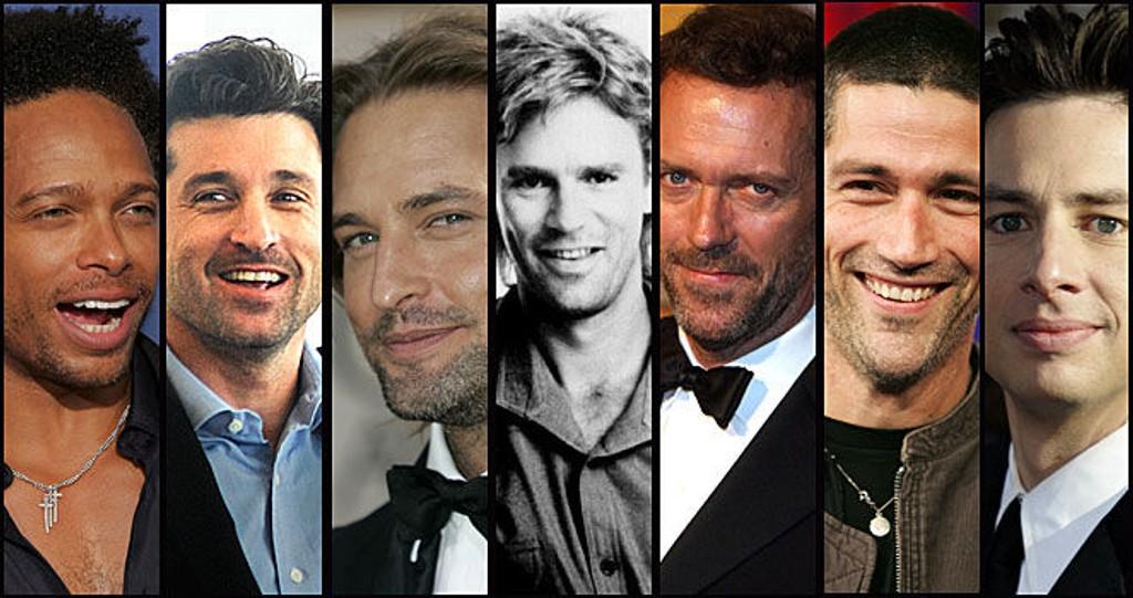 SEXY MENN: Det bugner av flotte TV-skuespillere - men hvem synes du er mest sexy?