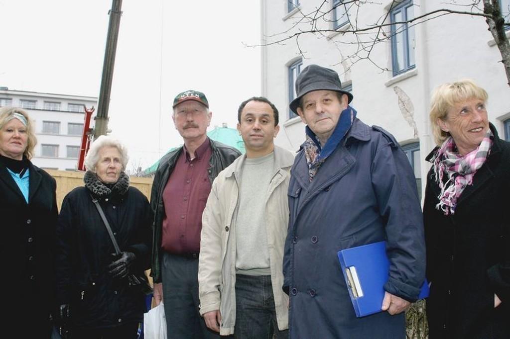 Liv Høyer (f.v.), Solveig Hansen, Rolf Semb, Mohammed Karimi, Nerkez Mackic og Anne Britt Smestad.