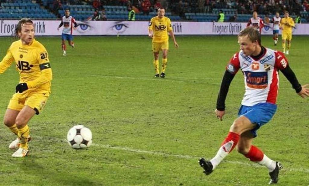 Kim Holmen scoret ett mål i søndagens seier over Bodø/Glimt.