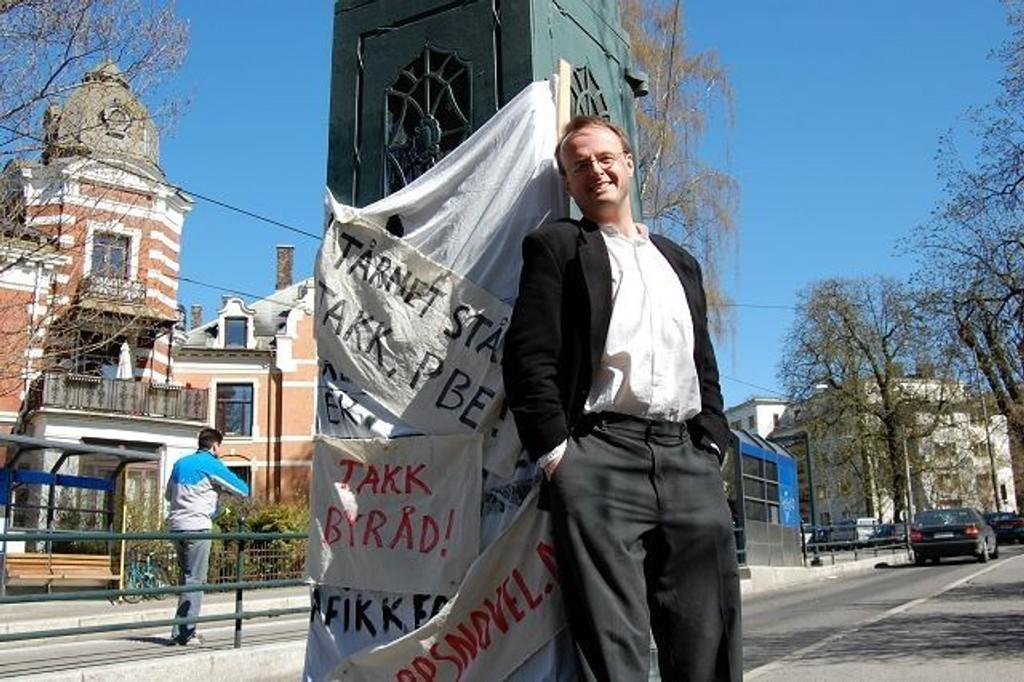 Håkon Wium Lie kjempet imot en oppføring av et reklametårn.