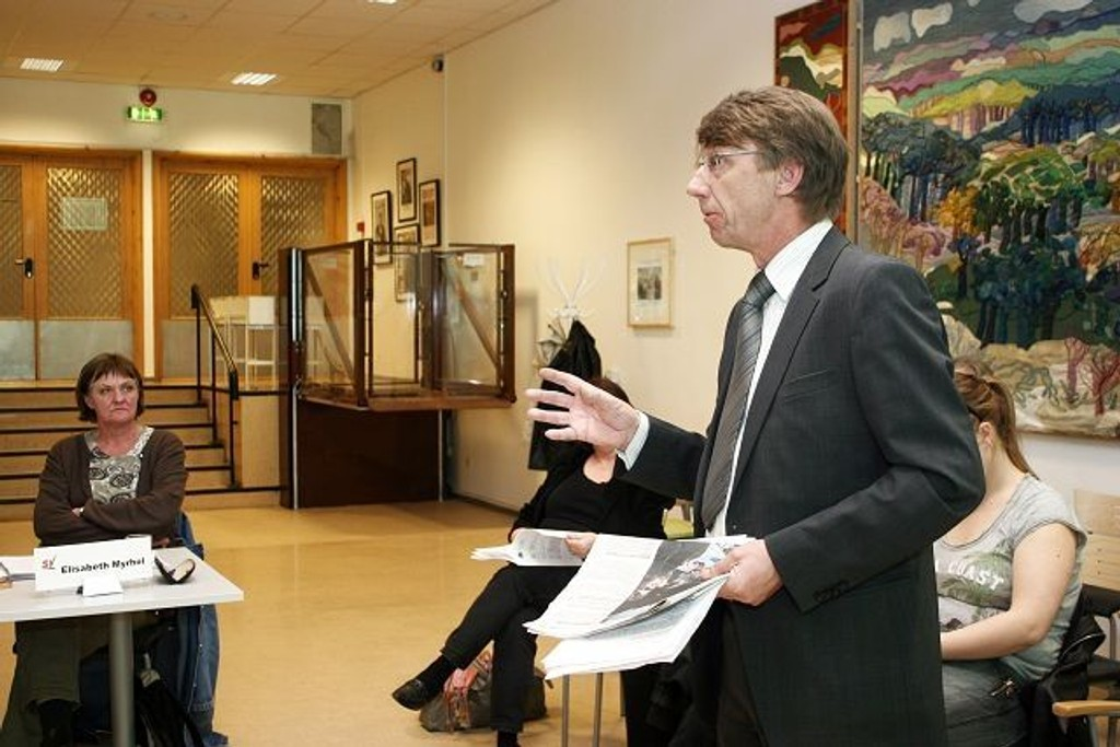 Torstein Nilsen i Vestliåsen Boligsameie mener området er uegnet til forsamlingshuset.