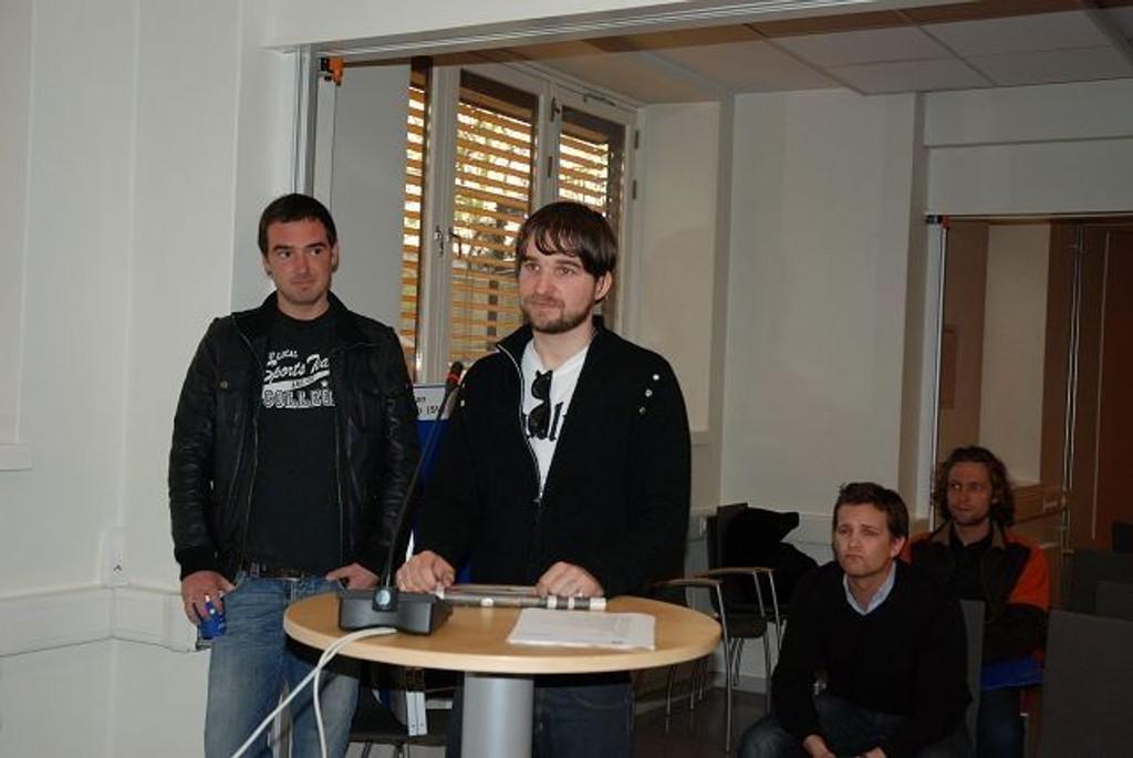 Willy Eikeland og Dan Marius Nordhagen på åpen halvtime.