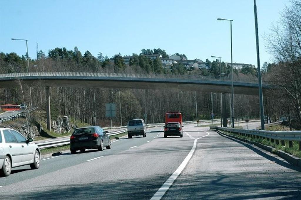 Denne broen over Mosseveien har Riksantikvaren fredet, og den skal vernes på grunnlag av at den har nasjonal verdi.